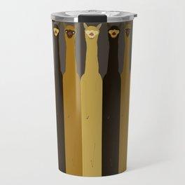 Triple LLAMAS ALPACAS CAMELS - Dark Travel Mug