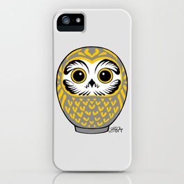 Grey Fukuro Daruma iPhone Case