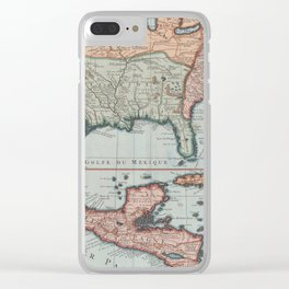 Vintage Map of The Gulf of Mexico (1732) Clear iPhone Case