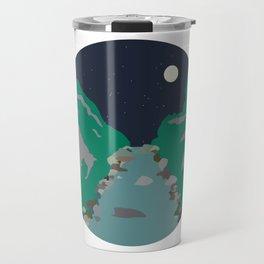 Peaks and Troughs Travel Mug