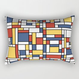 Mondrian De Stijl Pattern Rectangular Pillow