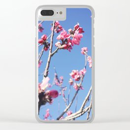 Blue Blossoms 03 Clear iPhone Case