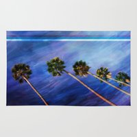 palms Area & Throw Rugs featuring Palms by Psocy Shop