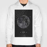 the moon Hoodies featuring MOON by Alexander Pohl