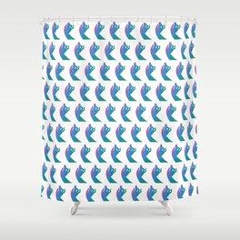 Blue Rainbow Holly Hands Shower Curtain