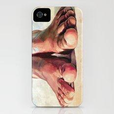 Pensando con los pies iPhone (4, 4s) Slim Case