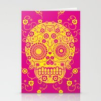 Stationery Cards featuring Sugar Skull by Farnell