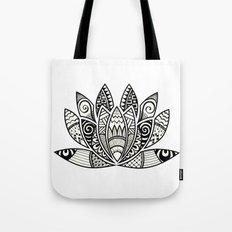 Tangled Lotus Tote Bag