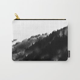 Black and White Fog Forrest Carry-All Pouch