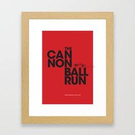 The Cannonball Run - Chevrolet Hawaiian Tropic Framed Art Print