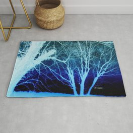 """ Trees In Winter "" Rug"