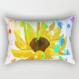 Raining Rainbows Rectangular Pillow