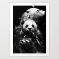 bears Art Prints featuring bears by kian02
