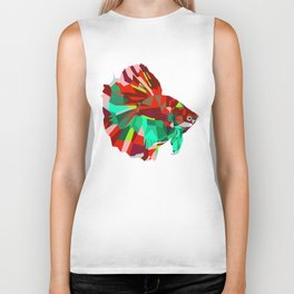 Betta fish Geometric artwork Biker Tank