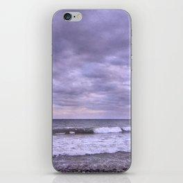 Rain storm at the sea iPhone Skin