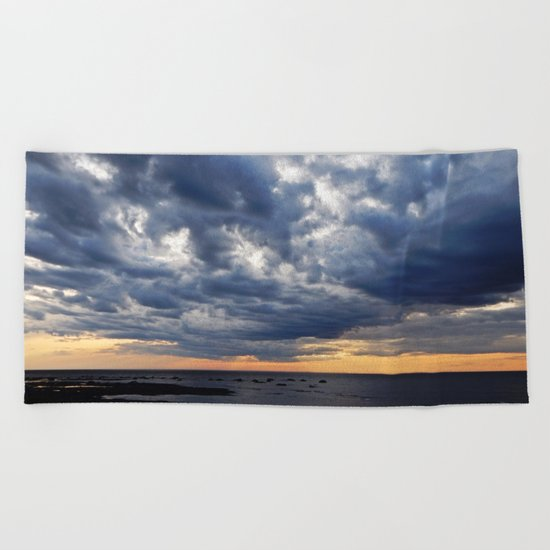 Clouds on the Sea Beach Towel
