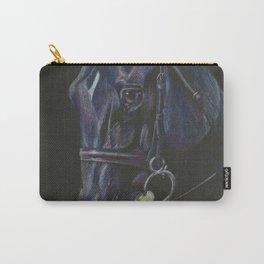 Black Horse Portrait Carry-All Pouch