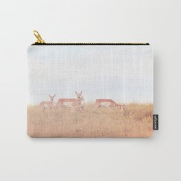 Antelope in Grass Carry-All Pouch