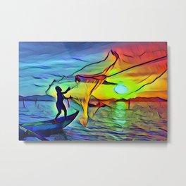 Fishing Day Metal Print