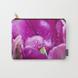 TULIP-HEAD with Rain-Drops Carry-All Pouch