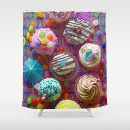Cupcake du Jour Shower Curtain