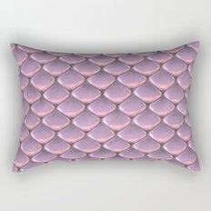 Pink Snake Skin mermaid scales Rectangular Pillow
