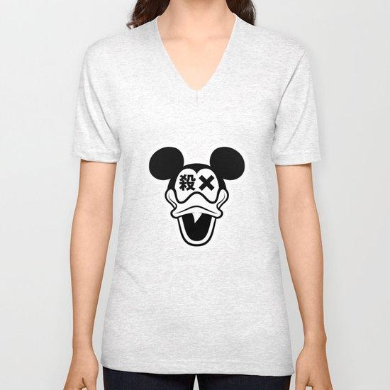 Mickey Duck Unisex V-Neck