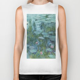"Claude Monet ""Water Lilies"" (8)(1915) Biker Tank"