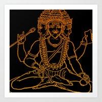 hindu Art Prints featuring Hindu by Littlefox