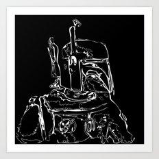 The Hunter B&W(flip) Art Print