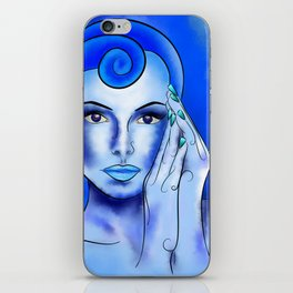 Jewellisina V1 - blue treasure iPhone Skin