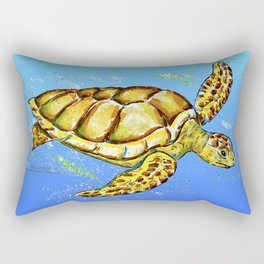 Sea Turtle / No Background Rectangular Pillow