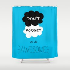 DFTBA TFIOS Nerdfighter Vlogbrothers Don't Forget to be Awesome, The Fault in Our Stars, John Green Shower Curtain