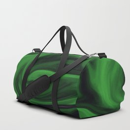 Black and green marble pattern Duffle Bag