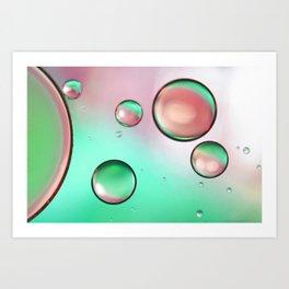 Watermelon Oil On Water Art Print