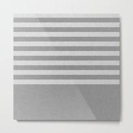 Gray color block and stripes Metal Print