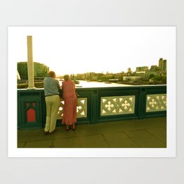 London Lovers Art Print