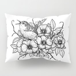 Wren bouquet Pillow Sham