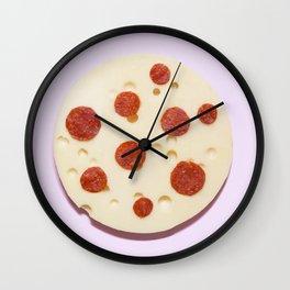 Cheese pizza Wall Clock