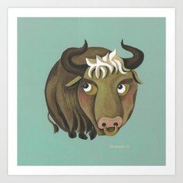 Taurus (mint) Art Print