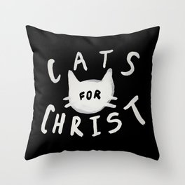 Cats for Christ II Throw Pillow