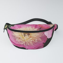 Pink Peony Twins Fanny Pack