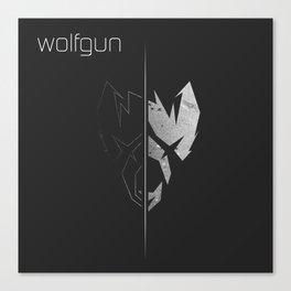 Wolfgun Tshirt Canvas Print