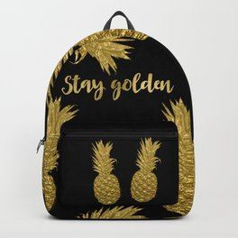 Stay Golden Precious Tropical Pineapple Backpack