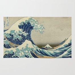 The Great Wave off Kanagawa - Katsushika Hokusai Rug