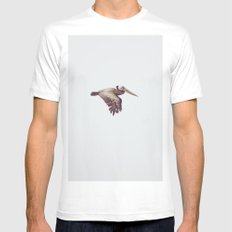 Solo Flight White MEDIUM Mens Fitted Tee