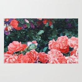 Psychedelic summer florals Rug