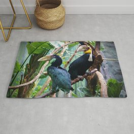 Pair Of Wreathed Hornbills Rug