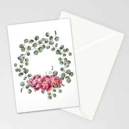 Watercolor Eucalyptus Wreath Stationery Cards