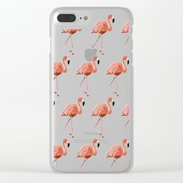 A Flamboyance of Flamingoes - Flamenco - 57 Montgomery Ave Clear iPhone Case